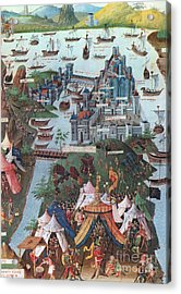 Siege Of Constantinople, 1453 Acrylic Print by Photo Researchers