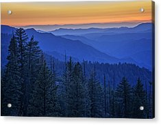 Sierra Fire Acrylic Print by Rick Berk