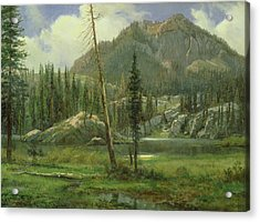 Sierra Nevada Mountains Acrylic Print by Albert Bierstadt