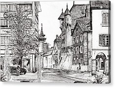 Sierre, Switzerland Acrylic Print by Vincent Alexander Booth