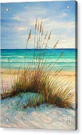 Siesta Key Beach Dunes  Acrylic Print by Gabriela Valencia