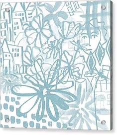 Sightseeting- Art By Linda Woods Acrylic Print by Linda Woods