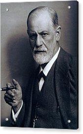 Sigmund Freud 1856-1939 Smoking Cigar Acrylic Print by Everett