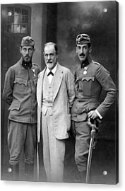 Sigmund Freud 1856-1939, With His Sons Acrylic Print by Everett