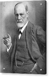Sigmund Freud Acrylic Print by English School