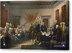 Signing The Declaration Of Independence, July 4th, 1776 Acrylic Print by John Trumbull