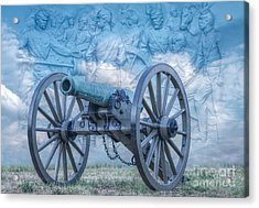 Silent Cannon Gettysburg Version 2 Acrylic Print by Randy Steele