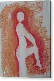 Silhouetted Figure Acrylic Print by AJ Brown