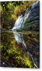 Silky Reflections Acrylic Print by Debra and Dave Vanderlaan
