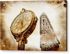 Silver And Gold Acrylic Print by Az Jackson