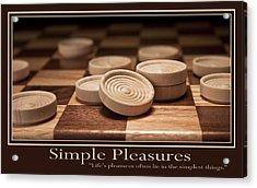 Simple Pleasures Poster Acrylic Print by Tom Mc Nemar