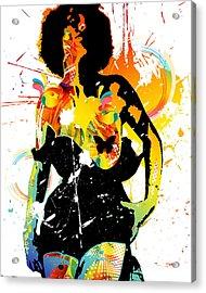 Simplistic Splatter Acrylic Print by Chris Andruskiewicz