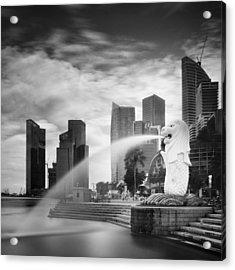 Singapore Harbour Acrylic Print by Nina Papiorek