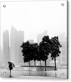 Singapore Umbrella Acrylic Print by Nina Papiorek