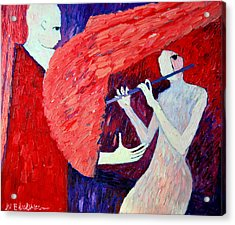 Singing To My Angel 1 Acrylic Print by Ana Maria Edulescu