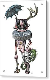 Sir Earnest Picklebottom Acrylic Print by Kelly Jade King
