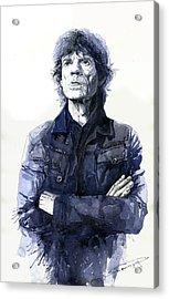 Sir Mick Jagger Acrylic Print by Yuriy Shevchuk