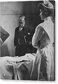 Sir William Osler 1849 � 1919, Reading Acrylic Print by Everett