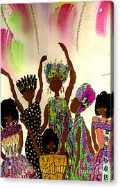 Sisterhood Acrylic Print by Angela L Walker