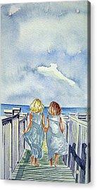 Sisters Acrylic Print by Paul SANDILANDS