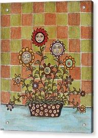 Sisters Acrylic Print by Rain Ririn