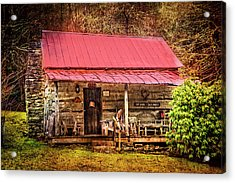 Sit Long Talk Much Acrylic Print by Debra and Dave Vanderlaan