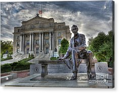 Sit With Me - Seated Lincoln Memorial By Gutzon Borglum  Acrylic Print by Lee Dos Santos