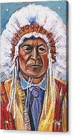 Sitting Bull Acrylic Print by John Keaton