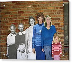 Six Generations Of Women Acrylic Print by Betty Pieper