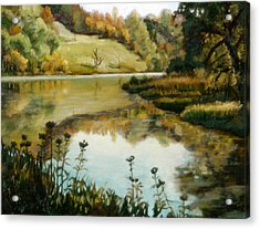 Six Mile Creek Ithaca Acrylic Print by John Clum