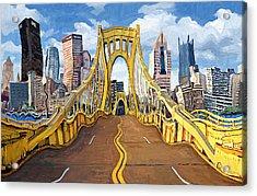 Sixth Street Bridge, Pittsburgh Acrylic Print by Frank Harris