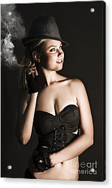 Sixties Undercover Private Eye Detective Acrylic Print by Jorgo Photography - Wall Art Gallery