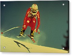Acrylic Print featuring the photograph Skiing In Crans Montana by Travel Pics