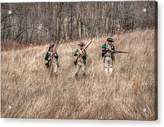 Skirmish Line Acrylic Print by Randy Steele