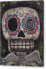 Skull Angel Acrylic Print by  Abril Andrade Griffith