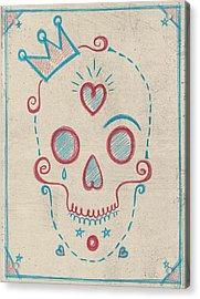 Skull Kids Acrylic Print by Francisco Valle