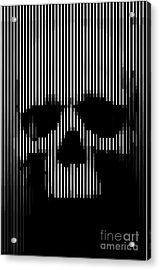 Skull Lines Acrylic Print by Sassan Filsoof
