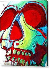 Skull Original Madart Painting Acrylic Print by Megan Duncanson