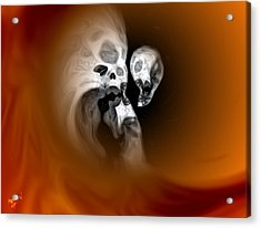 Skull Scope 2 Acrylic Print by Adam Vance