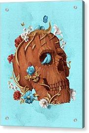 Skull Tree Acrylic Print by Francisco Valle