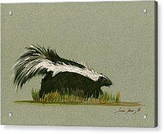 Skunk Animal Acrylic Print by Juan  Bosco