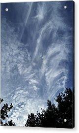 Skydrama11 Acrylic Print by Yun Qing Fu