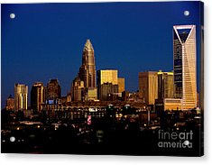 Skyline At Dusk Acrylic Print by Patrick Schneider