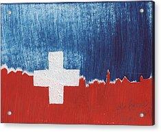 Skyline St. Moritz 1. August 2008 Acrylic Print by De Fago