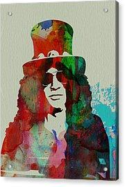 Slash Guns N' Roses Acrylic Print by Naxart Studio