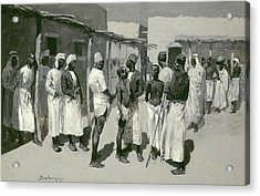 Slave Market, 1893 Acrylic Print by Frederic Remington
