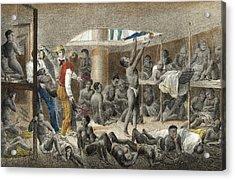 Slave Ship Below Deck Acrylic Print by Johann Moritz Rugendas
