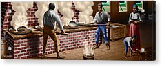 Slaves Refining Sugar Cane Jamaica Train Historical Old South Americana Life  Acrylic Print by Walt Curlee