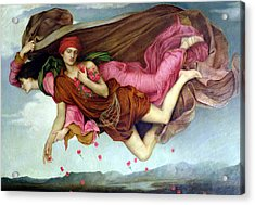 Sleep And Night Acrylic Print by Evelyn de Morgan
