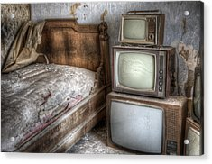 Sleep Tv's Acrylic Print by Nathan Wright